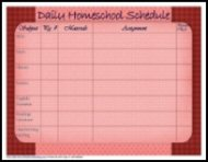 homeschool daily schedule