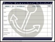 daily homeschool schedule assignment sheet