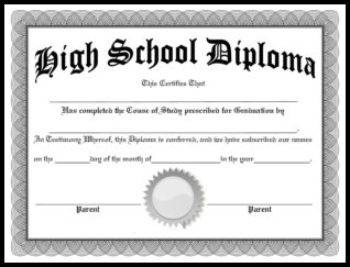 Current image in printable home school diploma