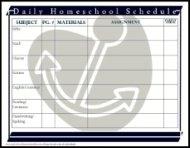 daily homeschool schedule assignment sheet