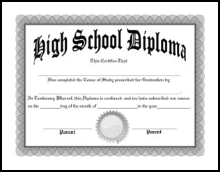 homeschool diplomas template